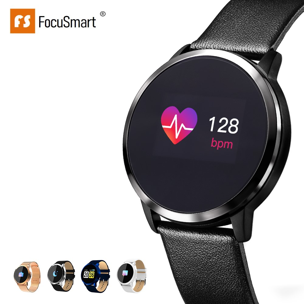 FocuSmart Q8 Smart Watch Blood Pressure Fitness Tracker Heart Rate Monitor Waterproof Color Screen Smart Watch for Men Women