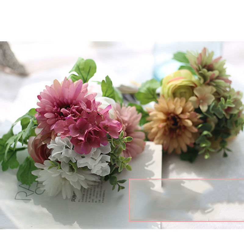 ✅A Bunch of Gerbera Hydrangea Bouquet Home Decorative Plant ...