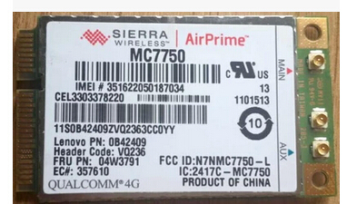Sierra MC7750 GOBI4000 04W3791 Mini PCI-e 3G LTE HSPA 100 MB WIFI tarjeta de GPS para IBM T430 T430i X230 X230i X230 T430s T430si