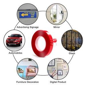 Image 5 - LUDUO 3M Auto Aufkleber Super Fix Rot Doppelseitige Schutz Selbst Klebeband Acryl Transparent Keine Spuren Auto Außen feste
