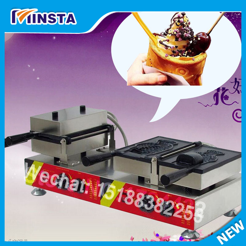 2017 New Ice cream Taiyaki machine Ice ceram fish waffle maker Ice Cream Big Mouth Fish Waffle Taiyaki Baker