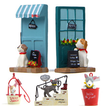 Miniatures Figurine Decoration Animal-Ornaments Cat Toys Puppy-Bonsai Terrariums Garden-Stands