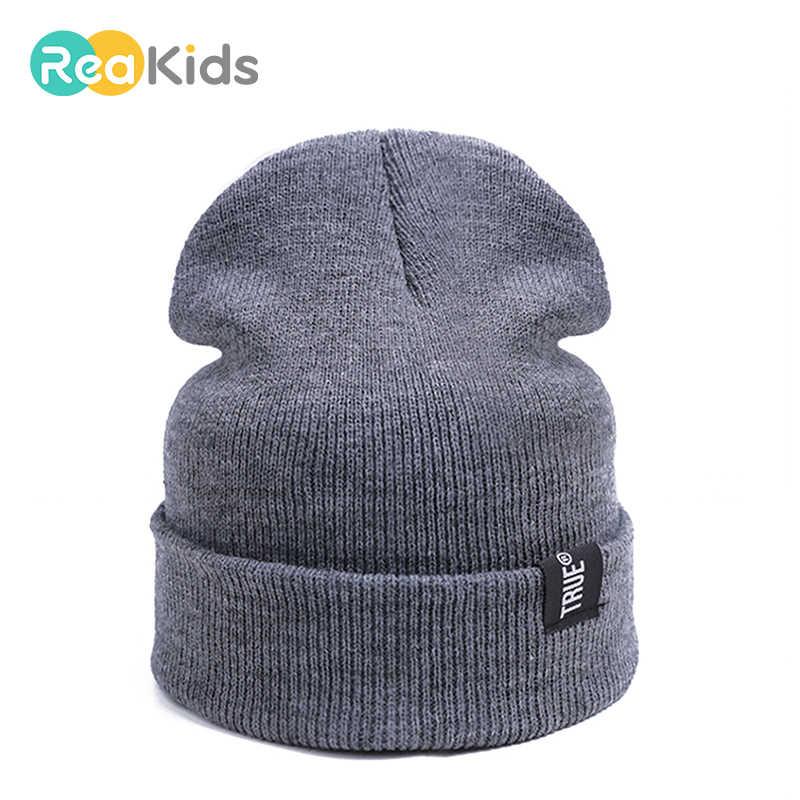 детские вязаные шапки Reakids осень зима детские шапки для мальчиков и девочек