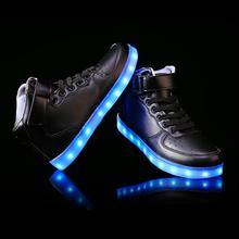 LED Chaussure Homme Adults Light Up Schuhe Schoenen Couples Casual High-top Luminous Shoes For Women Man ETS88