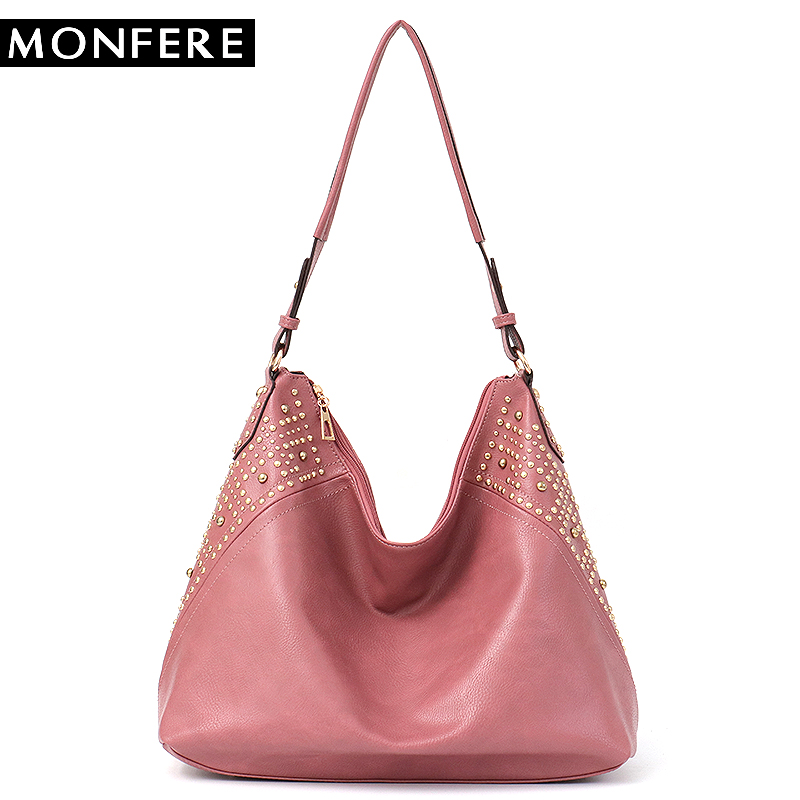 MONFERE Big Brand Designer Handbag for Women Large Hobo Female Solid Vegan Leather Shoulder Cross body Bag Ladies Messenger Bags barbie 2018 women s shoulder bag leather simple style black ladies handbag female fashion cross body bags for women