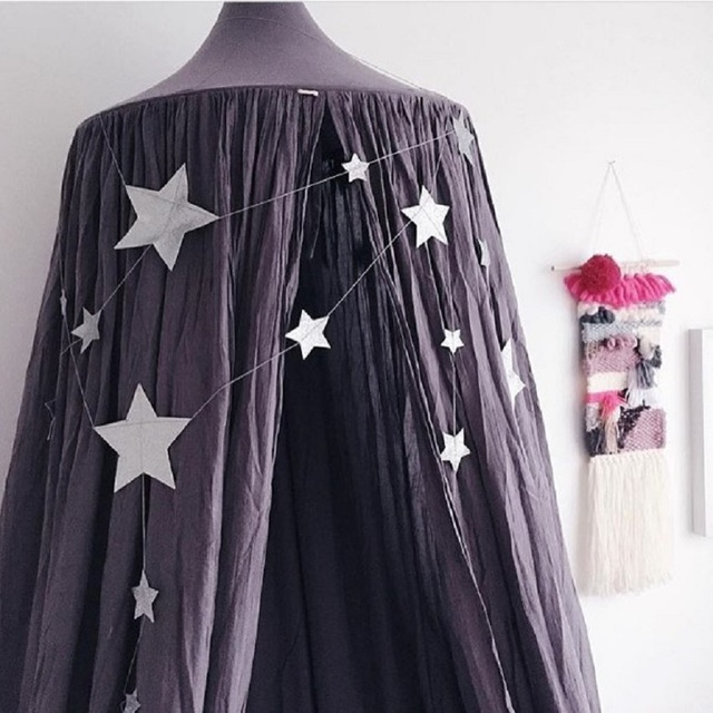 Hot sale kids room decoration Mosquitoes net for baby cute bed net for kids bed Dark green/Black/Navy three color