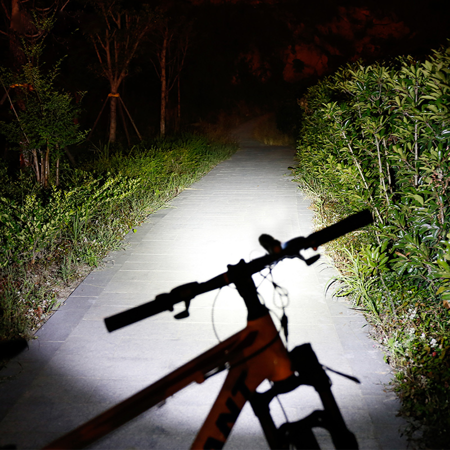 NEWBOLER Bicycle Light Rechargeable 3000 Lumens Bike Front Light XM-L T6 Bicycle LED Light Waterproof Build in Battery USB
