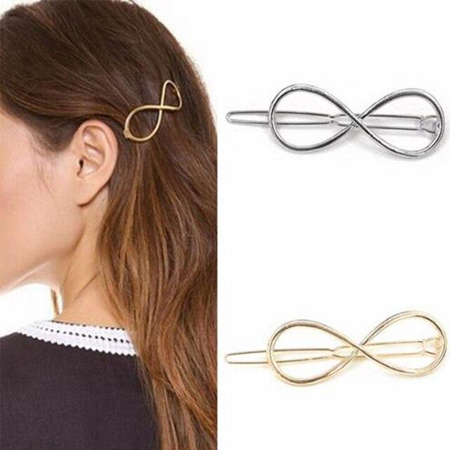 Jisensp Summer Style DIY Hair Care Styling Tools Fashion Women Infinity Hair  Clip Barrette Hairpin Headband 89d507b368c9