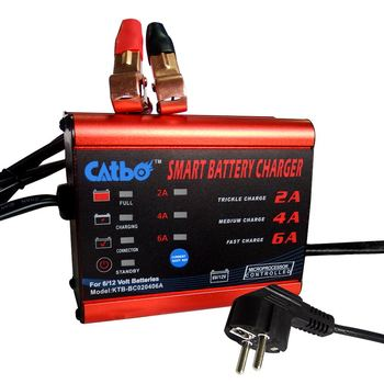 CATBO Car Motorcycle Battery Charger 6V12v All-Intelligent  Auto High Power Battery Charger