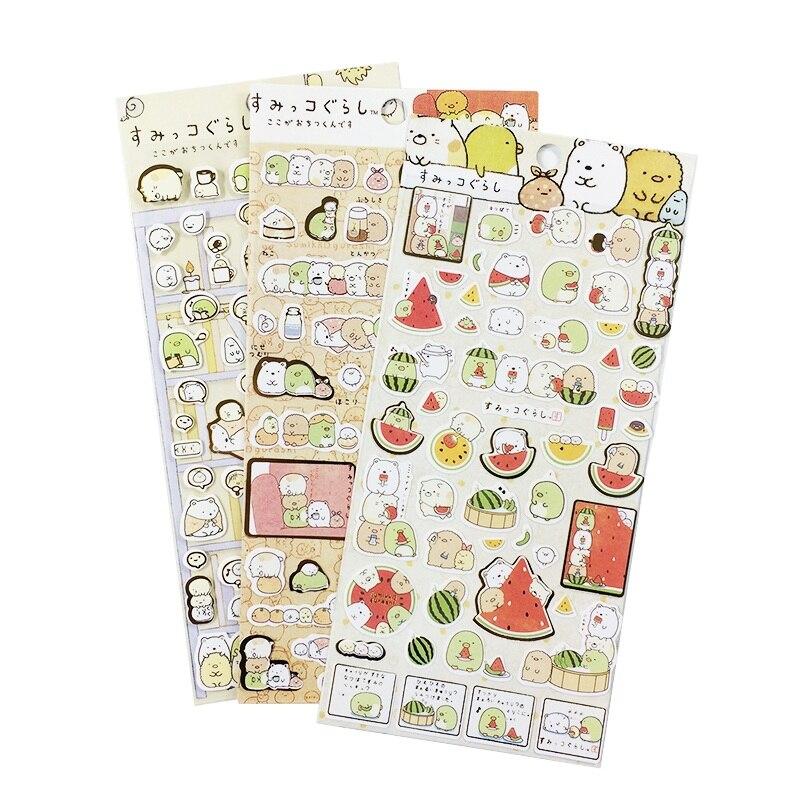 1 Sheets/set Cute Soft round Bear DIY Decorative Sticker Dairy Notebook School Supplies Multi Design Scrapbooking Home Decor