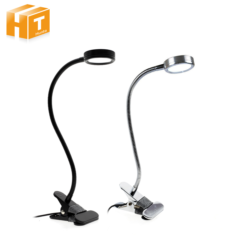 LED Desk Lamp With Clip On/Off Switch USB Rechargeable Double Color Table Lamp For Living Room Bedroom Desktops Light bqlzr dc12 24v black push button switch with connector wire s ot on off fog led light for toyota old style