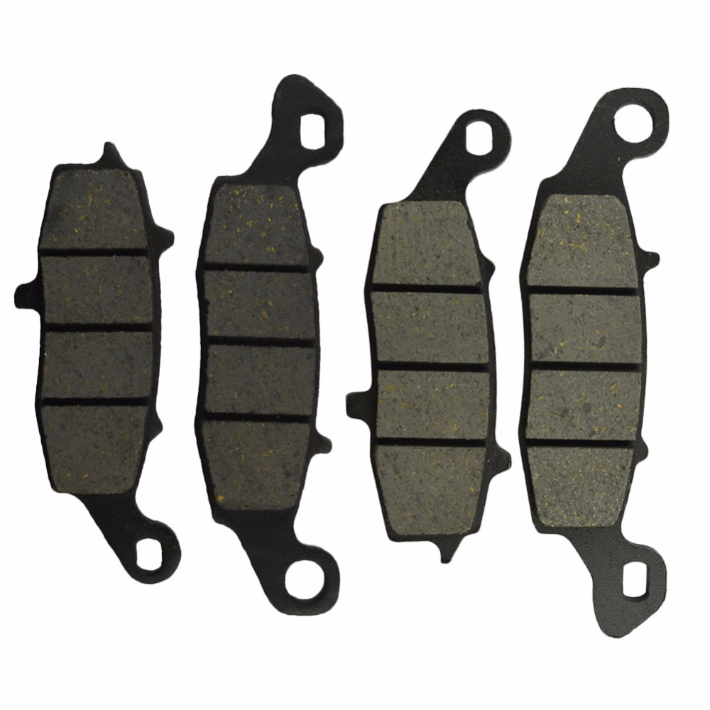Motorcycle Front and Rear Brake Pads For KAWASAKI VN 900 VN900 Vulcan Classic 2006-2014 Black Disc Pad motorcycle front and rear brake pads for yamaha street bikes tdm 900 tdm900 2002 2010 sintered brake disc pad