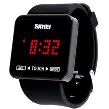 Женские наручные часы электронные светодиодный smart watch женщин силиконовые спортивные цифровой сенсорный часы 2018 Новая мода Открытый леди часы