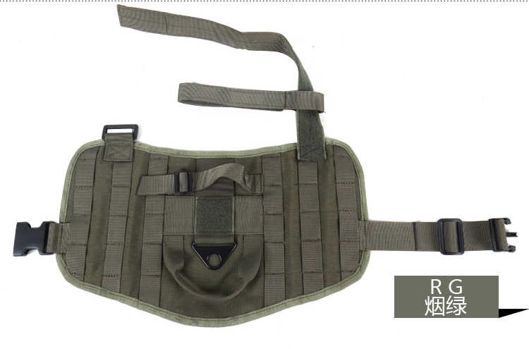 الجيش الكلب صدرة تكتيكية في الهواء الطلق العسكرية الكلب الملابس الحاملة تسخير سوات التكتيكية الكلب التدريب رخوة سترة تسخير