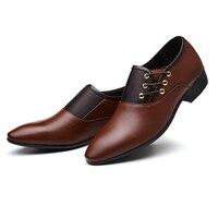 BG4-5, EU38-48, Черные Мужские модельные туфли с острым носком, большие размеры, Мужская Свадебная обувь Baita латинский бальный танец, мужская кожан...