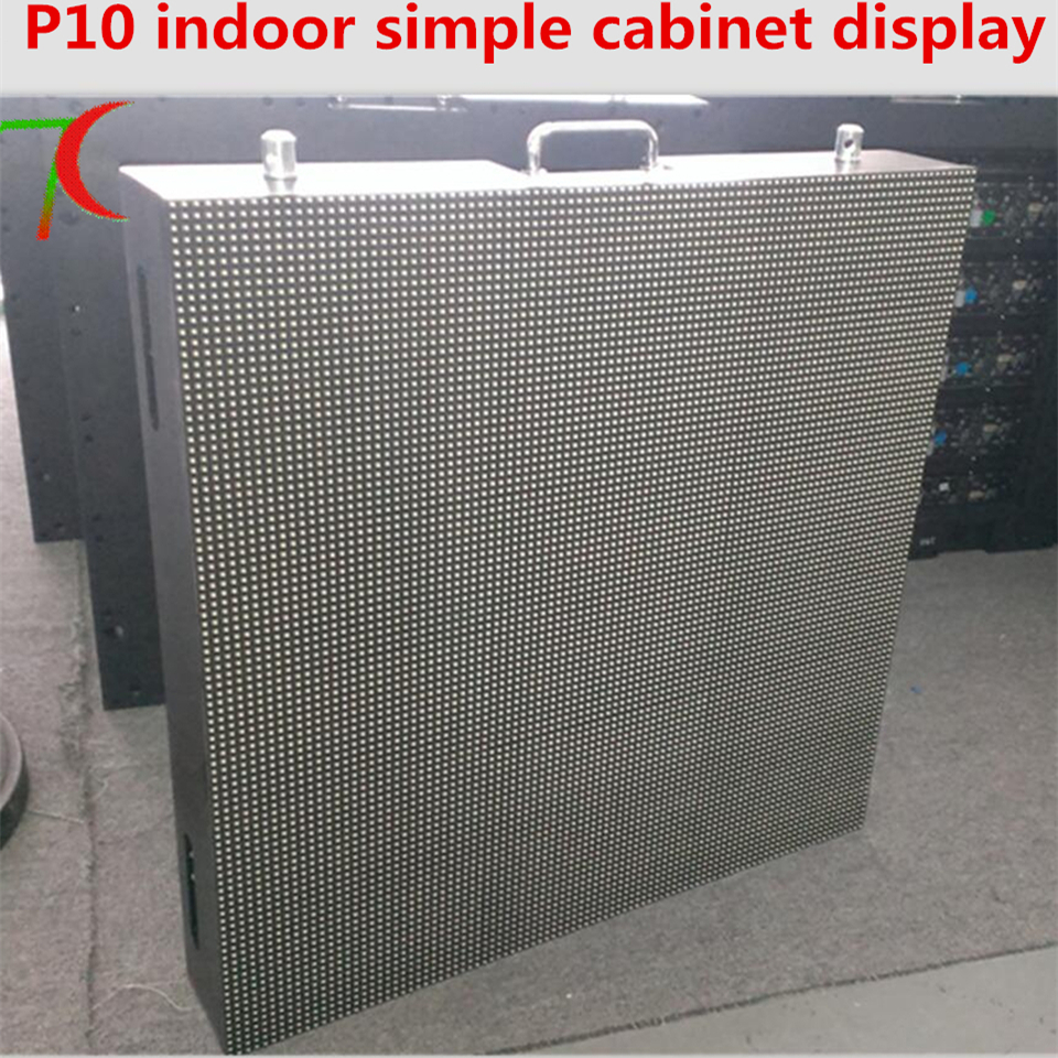 960*960mm indoor 4scan P10  full color simple equipment cabinet display
