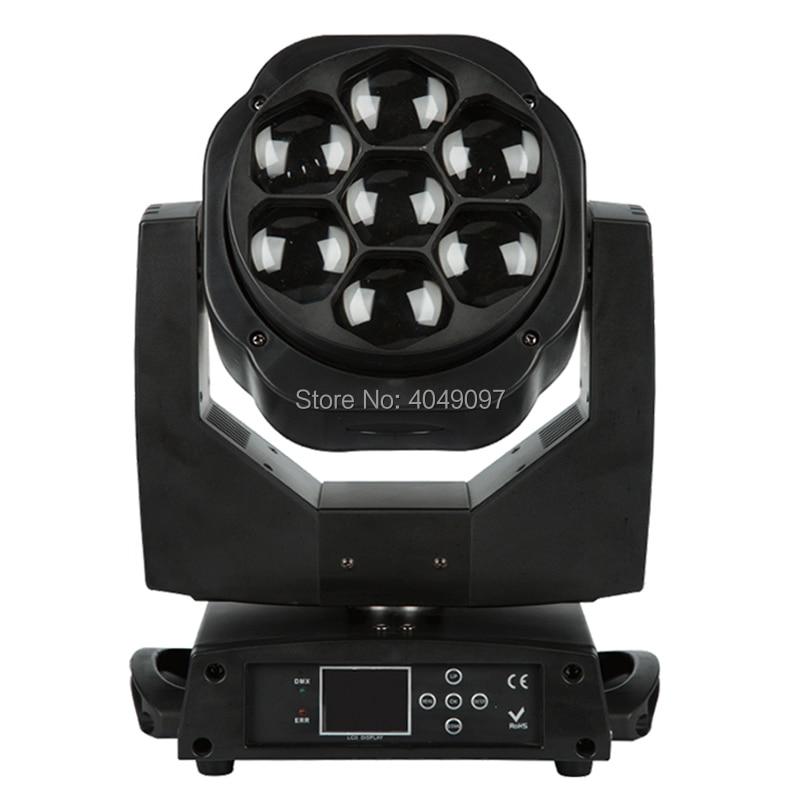 2pcs/lot New 7x15W RGBW Led Mini Bee Eye Moving Head Light Professional Stage Lights  Zoom DJ DMX Disco Beam light Wash Effect