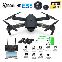 Eachine E58 True 1080 P WIFI FPV con gran angular HD Cámara modo de alta sujeción plegable brazo RC actualización Amateur quadcopter RTF VS M69(China)