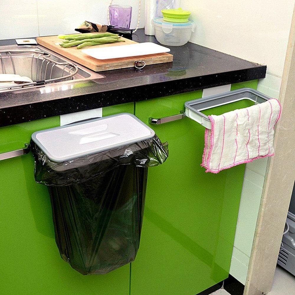 US $2 78 35% OFF|1pcs Hanging Trash Bag Holder 0 10 pounds Door Kitchen  Cabinet Garbage Organizer PP Trash Bag Holder for Home Office Desk Table-in
