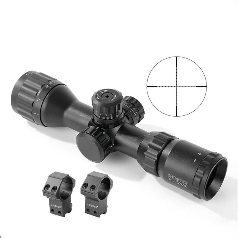 Shooter Rifle Scope Hunting ST 3 9X32AOE Rifle Scope 25 4mm Tube Diameter Waterproof Shakeproof Fogproof