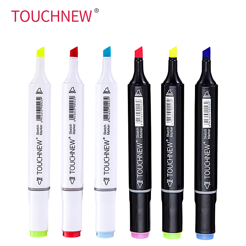 TOUCHNEW 168 Colors Single Art Markers Brush Pen Sketch Alcohol Based Markers Dual Head Manga Drawing Pens Art Supplies