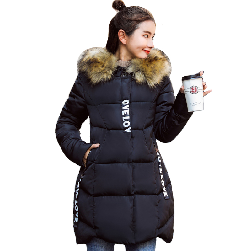 2019 High Quality Cotton Padded Winter Jacket Women Hooded Long Outwear For Womens Winter Jackets Plus Size Coat   Parka