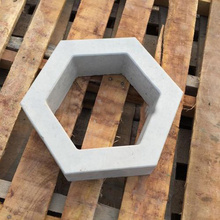 Hollow hexagon Garden Building Concrete Mold Fence Hollow Plastic Brick