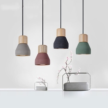 American Country Style cement Pendant Light for kitchen bedroom Socket Droplight wood indoor Decoration Hanging light fixtures