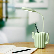 Multi Use LED Table Lamp Cactus Shaped Desk Lamp Modern Reading Book Light Multi-colors For desk bedroom dress up(China)