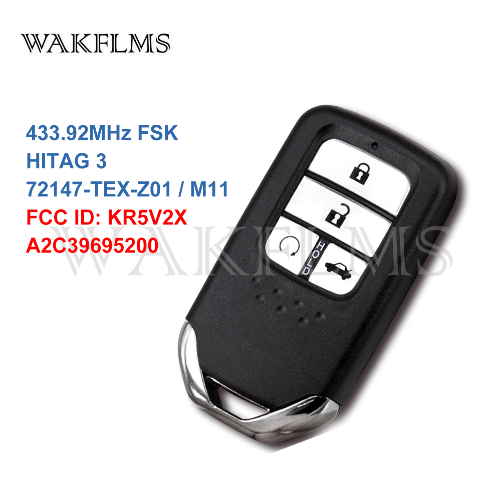 Smart Car Key Replacement >> Best Price 4 Buttons Smart Car Key For Honda Civic 433mhz