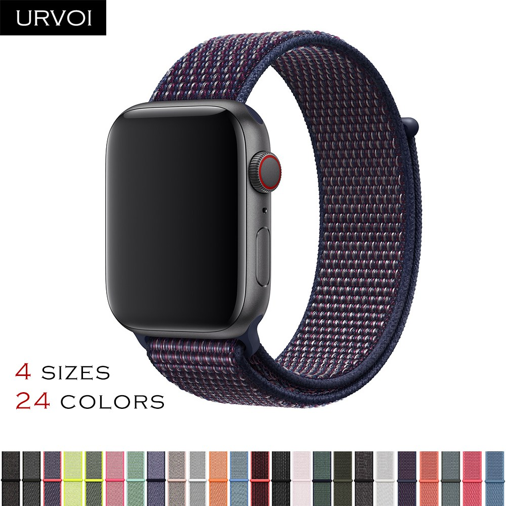 4abe4e8b8bab URVOI Fall 2018 Sport loop for apple watch series 4 3 2 1 band reflective  strap for iwatch double-layer woven nylon breathable