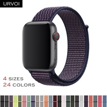 URVOI Fall 2018 Sport loop for apple watch series 4 3 2 1 band reflective strap for iwatch double-layer woven nylon breathable(China)