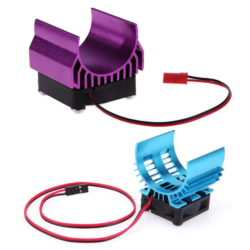 New Motor Heat Sink with Super Fan Cooling Head for 1/10 HSP HPI Wltoys Himoto Tamiya RC Car 540/550/3650 Motor Parts & Accs brushless motor 540 electric inrunner motor for 1 10 rc car boat airplane hsp hi speed wltoys tamiya truck buggy car