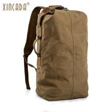 XINCADA Duffle Bag Travel Bag Men Travel Backpacks Canvas Backpack Vintage Rucksack Large Capacity Backpack