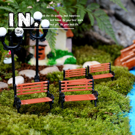 Buy cute mini chair bench home decor miniatures fairy garden ornaments - Garden decor stores ...