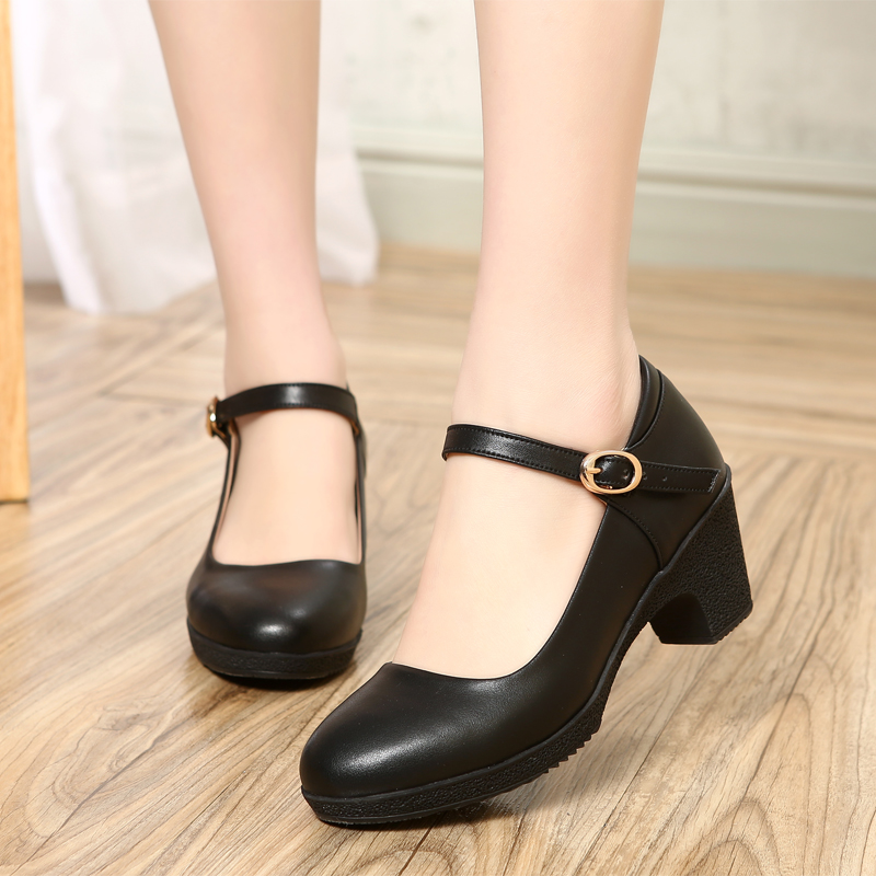 ФОТО 2017 spring genuine leather women shoes slope with soft bottom work shoes in the elderly shallow mouth mother shoes women