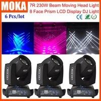 6 Pcs/lot DJ Sharpy 7R Beam Moving Head Light 230W Light for Nightclub Shows