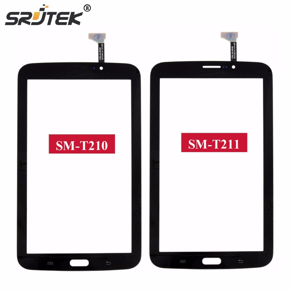Srjtek 7 For Samsung Galaxy Tab 3 7.0 SM-T210 SM-T211 T210 T211 Touch Screen Digitizer Glass Panel Sensor Tablet PC Replacement free shipping new brown white touch screen digitizer glass replacement for samsung galaxy tab s 10 5 sm t800 t805s t805k t805l