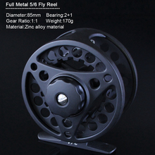 RoseWood Fly Fishing Set 5/6 Fishing Rod 2.7m Full Metal Fly Reel 24pcs Fishing Lure Hook Box 35yards Fly Fishing Line With Case