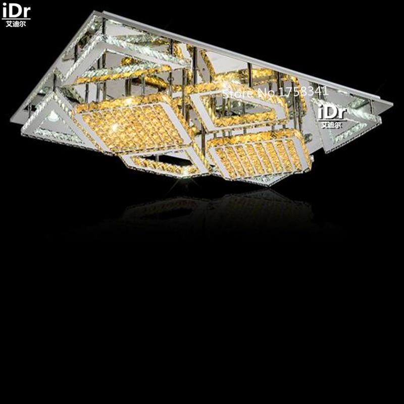 Ashion LEd Lampe Kristall Rechteckigen Wohnzimmer Schlafzimmer Leuchten Kreative Deckenleuchten L980xW650mm Kostenlose LieferungChina