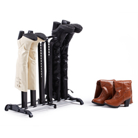 Portable Shoe Support For 3 Pairs PP Steel Shoe Storage Rack Long Boots Stays Black Practical