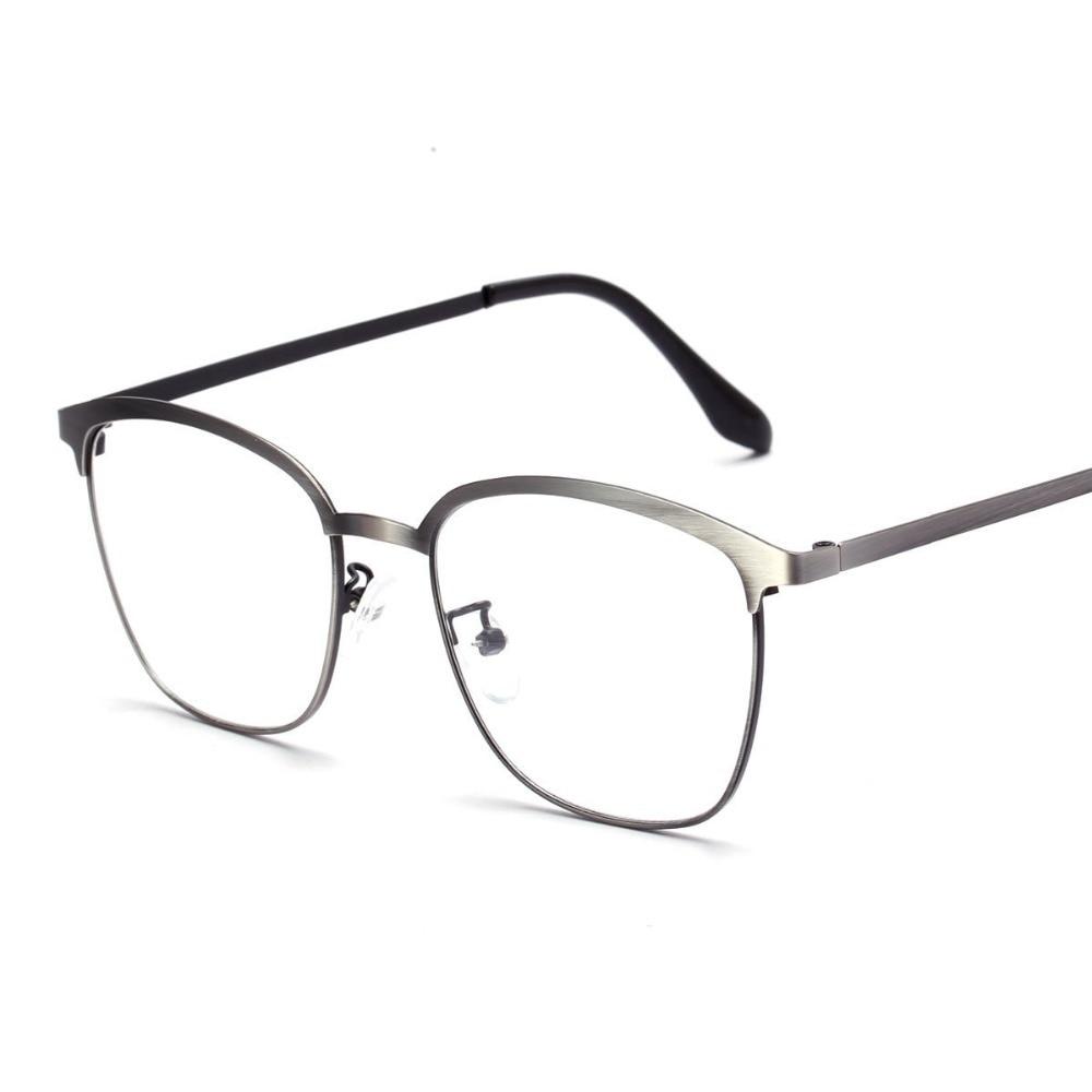 Nueva alta moda marca de Metal marco cuadrado gafas Vintage Clear ...