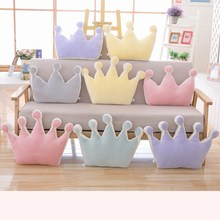 Hot Plush Crown Baby Newborn baby Room Decor Bedding Crib Decoration Infantil Pillow Doll Nordic Cushion INS Christmas gift(China)