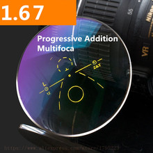 1.67 Index Progressive Lens Aspheric Anti Reflective Multi-focal HMC Graduated Addition Varifocal 2 PCS