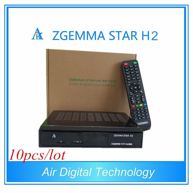 10pcs/lot Original DVB-T2 Combo Receiver zgemma-star h2 enigma 2 twin tuner DVB-S2 with Hybrid DVB-T2/C интегральная микросхема n a upd8279c 2 d8279c 2 d8279c upd8729 40 rohs 10pcs lot d8279c 2