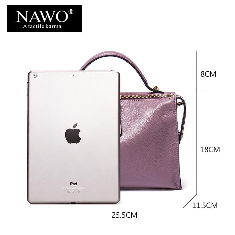 couro genuíno para mulheres bolsas Color : Purple, grey, black