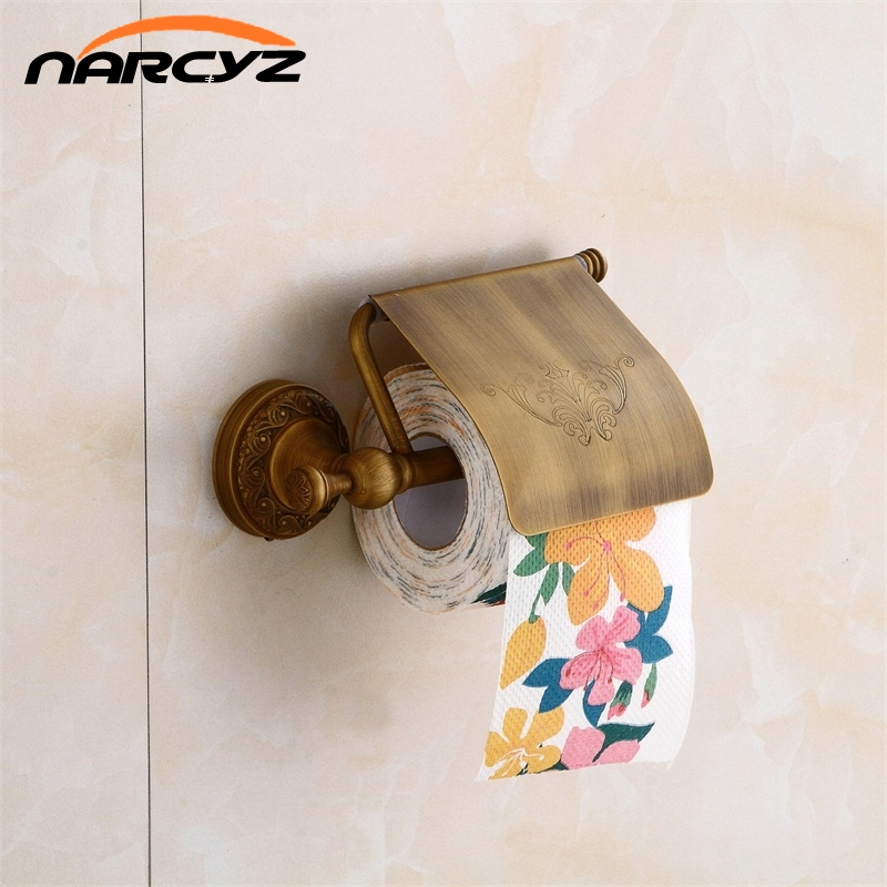 European-style bathroom full copper black antique tissue paper box roll paper holder toilet paper copper paper towel rack 9020KEuropean-style bathroom full copper black antique tissue paper box roll paper holder toilet paper copper paper towel rack 9020K