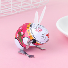 Clockwork Toy Rabbit Action-Figures Children Kid Animal Gifts Educational Funny Colorful