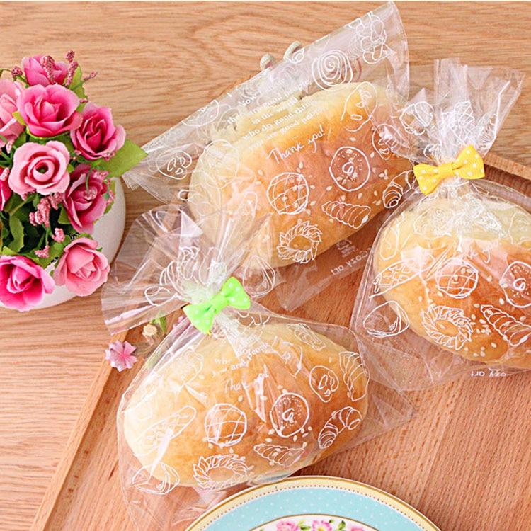 300 шт хлеба пластиковые пакеты печенья леденец конфеты печенье пластиковые упаковочные пакеты приспособление для выпечки вечерние подарочные пакеты