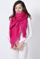 100% Wool Thick Solid Color Winter Shawl Scarf Scarves wrap New Hot Pink YW1027
